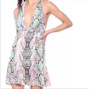NEW Show me your MuMu Snake Skin Dress Medium